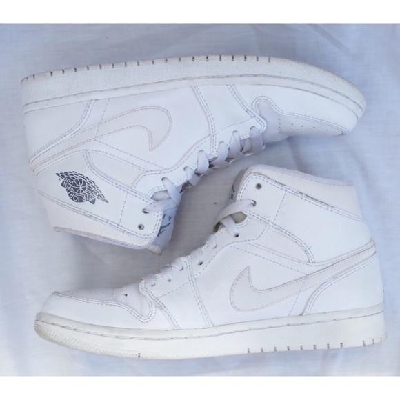 white high top air jordans
